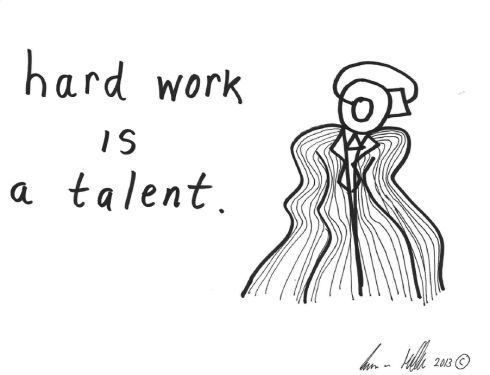 Hard work is a talent
